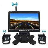 Telecamera Per Retromarcia Auto Senza Fili 7 Pollici TFT LCD Specchio Monitor 18 LED