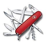 Victorinox Coltello da Tasca Cacciatore (15 Funzioni, Forbici, Sega-Legno, Cacciavite) Rosso -...