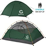 Gonex Tenda da Campeggio, Tenda a Cupola per 2 Persone, Antivento e Impermeabile, per 3 Stagioni,...