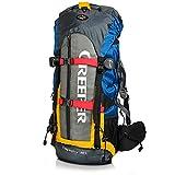 Creeper Zaino Impermeabile 60 litri, Zaino Viaggio Trekking Unisex adulto per Bici Escursionismo...
