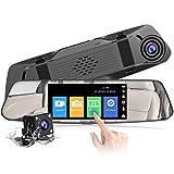 【2020 Nuova Versione】 CHORTAU Telecamera per Auto da 4,8 pollici Touchscreen Full HD 1080P...