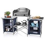 Campart Cucina da Esterni in Alluminio Malaga, Unisex Adulto, Blu, 172 cm