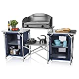 Campart Cucina da Esterni in Alluminio Malaga, Blu, 172 cm