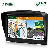 POMILE Navigatore Satellitare Auto per Camion, 7 pollici GPS per Auto Camion Aggiornamento gratuito...