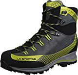 LA SPORTIVA Trango TRK Leather GTX Carbon/Green, Stivali da Escursionismo Alti Unisex – Adulto
