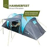 Skandika - Hammerfest, Tenda da Campeggio per 4 Persone, Colore: Blu/Nero