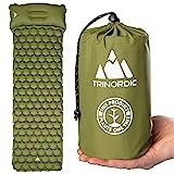 TRINORDIC - Materassino gonfiabile ultraleggero, con cuscino, pieghevole, leggero, gonfiabile, letto...