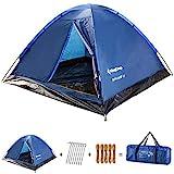 KingCamp Tenda Campeggio Bambino 2 posti Leggera Tenda da Campeggio Portable Durable Breathable per...
