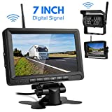 Telecamera Retromarcia Wireless per Auto con 7 Pollici Monitor LCD, Digitale Assistenza al...