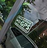 StickersLab - Adesivi Allarme GPS antifurto satellitare per Evitare i furti Auto Moto Camion Caravan...