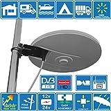 HELIO - Antenna TV HD digitale omnidirezionale ad alto guadagno con amplificatore incorporato da 33...