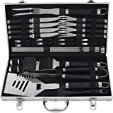 grilljoy 29PCS Accessori Barbecue-Utensile per Barbecue in Acciaio Inossidabile Resistente con...