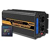 EDECOA Inverter 1000w Onda Pura 12v 220v 2X USB con Telecomando Trasformatore di Potenza...
