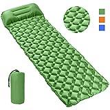 QcoQce Materasso da Campeggio Gonfiabile, 193 * 57 * 6cm Materasso Pieghevole e Riponibile con...