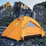 V VONTOX Tenda Campeggio, 2-3 Persone Ultra-Leggero Tenda Impermeabile a Due Porte per Campeggio,...