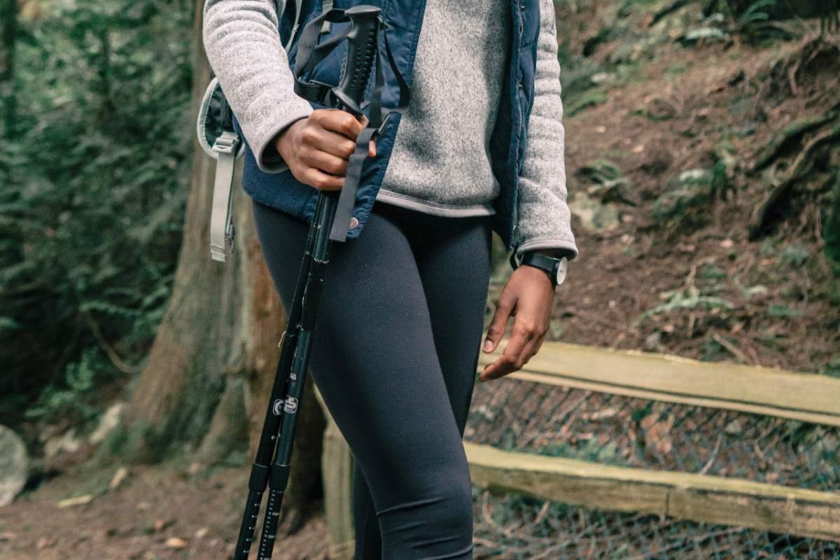 bastoncini da trekking escursione in montagna