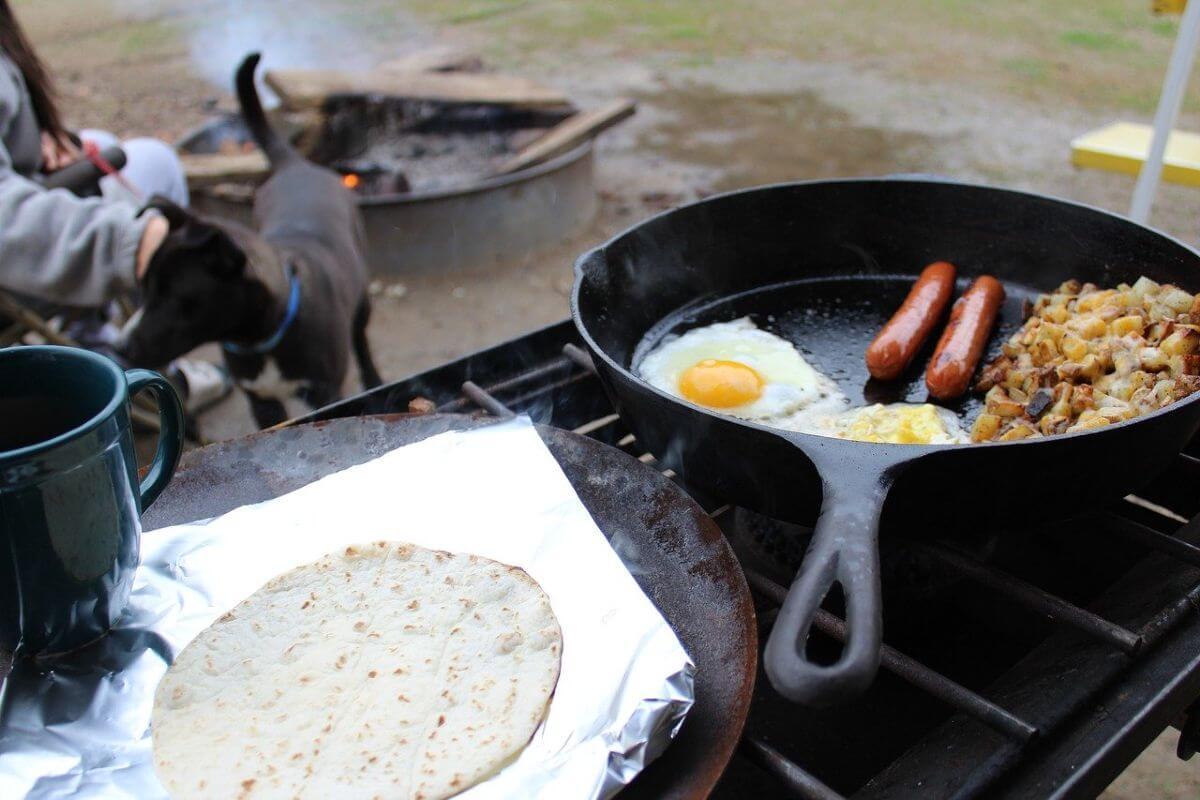 campeggio cucinare