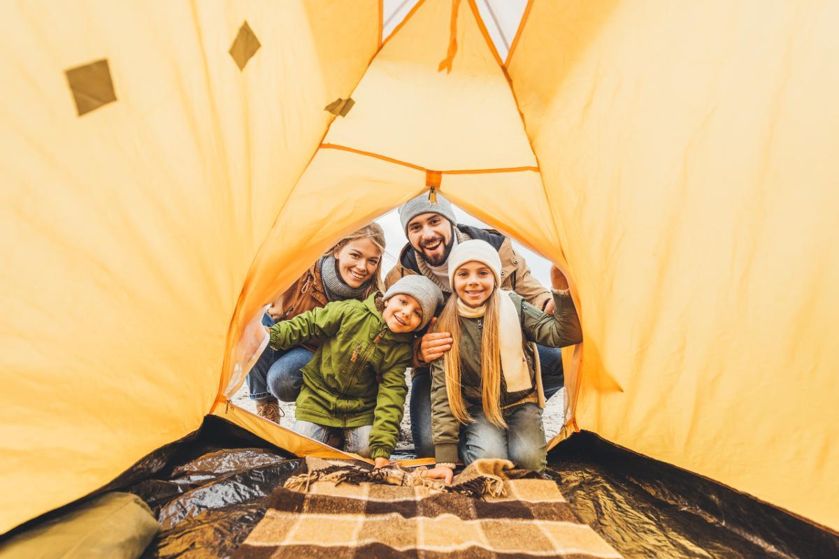 tenda campeggio con bambini